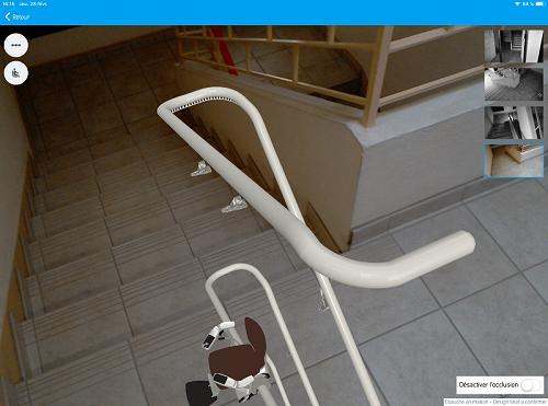 Modélisation 3D du monte-escalier thyssenkrupp Home Solutions