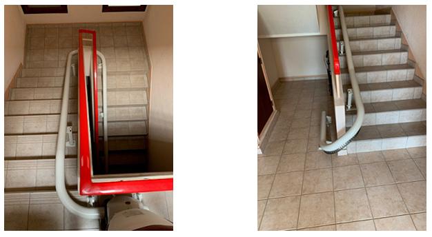 Installation du monte-escalier © thyssenkrupp Home Solutions
