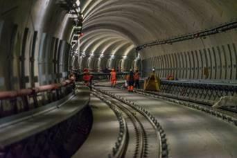 Chantier de la ligne B du métro de Rennes – Image Colas Rail