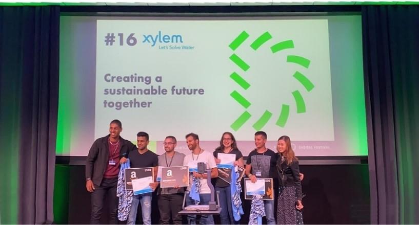 Xylem - L'équipe Res-Queue lors du HackZurich 2021