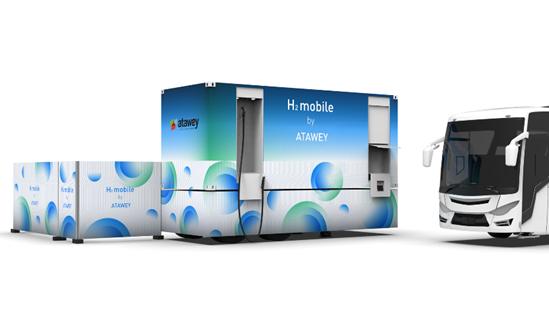 Atawey innove pour la mobilité décarbonée avec une nouvelle station mobile hydrogène